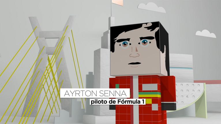Imprimir Paper Toy do Ayrton Senna