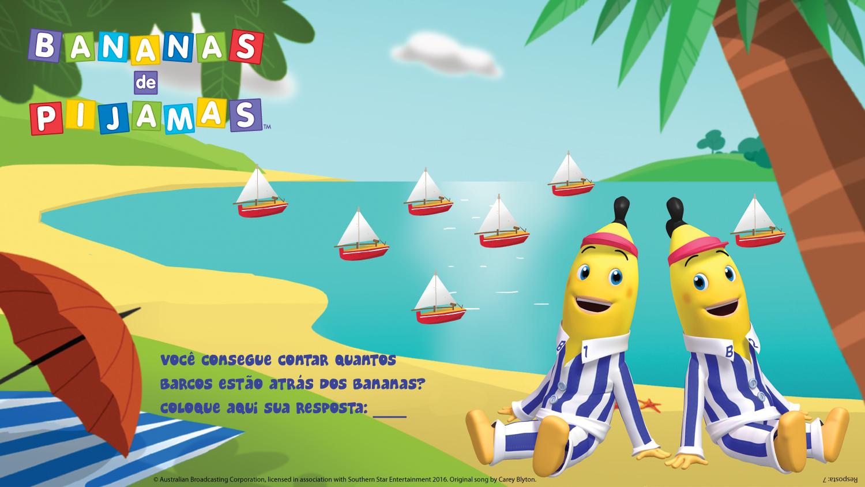 Conte os barcos atrás dos Bananas!