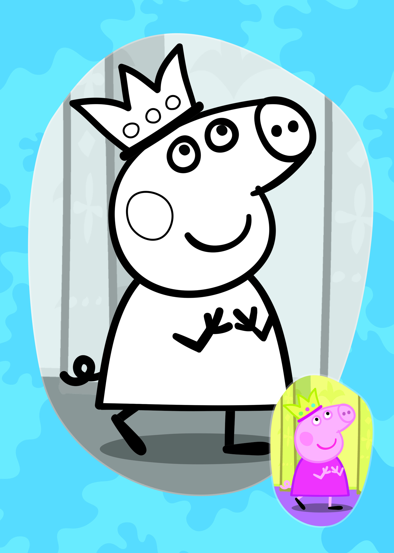 Peppa princesa para colorir