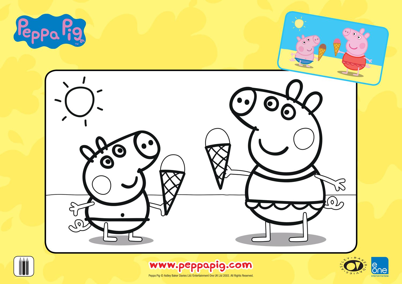 Férias da Peppa para colorir 09
