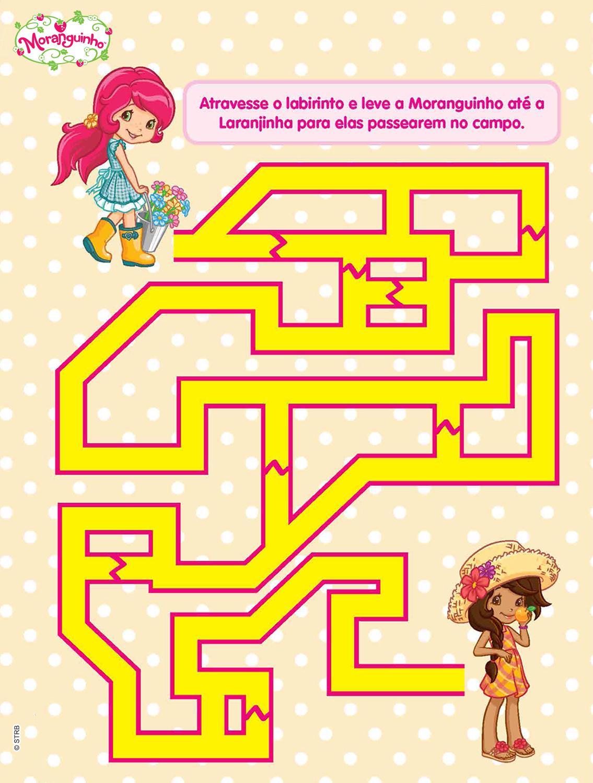 Ajude Moranguinho a atravessar o labirinto!