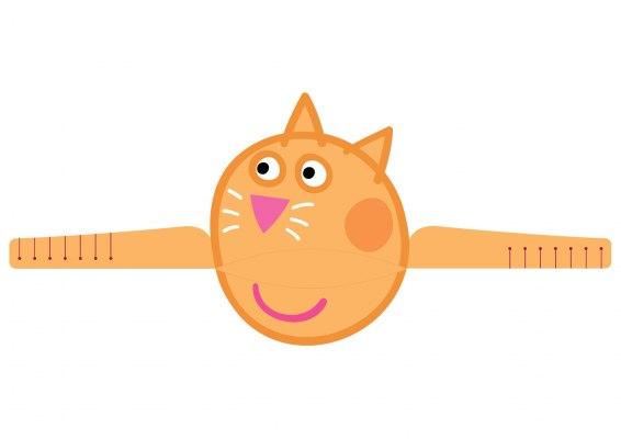 Faça um divertido chapéu de papel da Candy Cat.