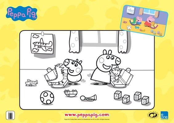 Férias da Peppa para colorir 02
