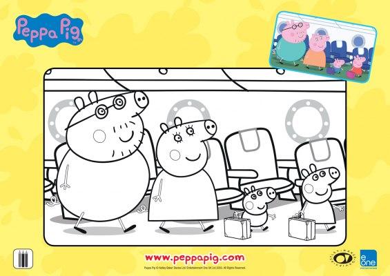 Férias da Peppa para colorir 04